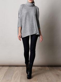@DVF ahiga sweater + boots w/ Paige skinny jeans. #falllooks ~
