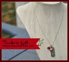 Teachers Inspire - This necklace & charm set is just $43.24 and that includes shipping to you and tax.  A great teacher's gift she will love.