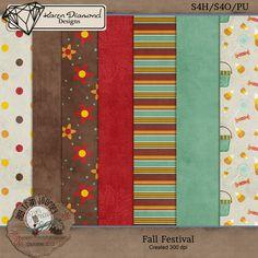 Scrapbooking TammyTags -- TT- Designer - Karen Diamond Designs, TT - Item -Paper, TT - Blog Train - 2012 10 Pumpkin Patch-Fall Harvest SNP Blog Train