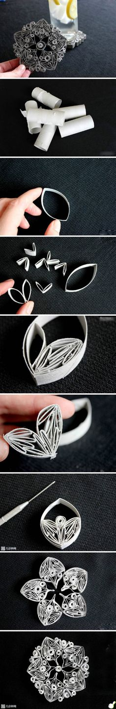 After learning these 38 DIY Toilet Paper Tube Crafts you'll not throw them away into the trash so easily!DIY Paper Roll Art- some silver wire and solder and instant jewelry.Handmade Dahlia Cool Flower Crafts Paper Crafts For Teens Paper Craft Flowerw Toilet Paper Roll Art, Toilet Paper Roll Crafts, Diy Paper, Paper Crafting, Tissue Paper, Fun Diy Crafts, Recycled Crafts, Kids Crafts, Recycler Diy
