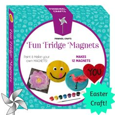 Add personality to your fridge and show your kids' creative side with Pinwheel Crafts Fun Fridge Magnets! Buy now: https://pinwheelcrafts.com/collections/frontpage/products/fun-fridge-magnets?platform=hootsuite