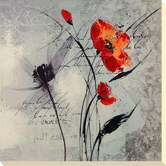 Flower canvas picture print Floral Scripts by Isabelle Zacher-Finet