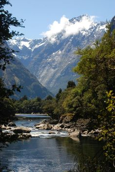 More of the Milford Track--most famous walk (hike) in the world. South Island, New Zealand
