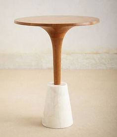 Romanza Marble-Base Tea Table – Anthropologie could be made by pouring concrete base. Unique Coffee Table, Coffe Table, A Table, Table Legs, Dining Table, Unique Furniture, Dining Furniture, Furniture Design, Retro Furniture