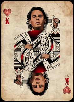 Rafael Nadal, the King of Hearts Poker card art by Polilla, 2013. www.babolat.com