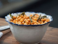 Fried Chickpeas with Sage and Parmesan recipe from Valerie Bertinelli via Food Network