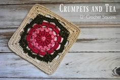 "Crumpets and Tea 12"" Crochet Square - Cre8tion Crochet"