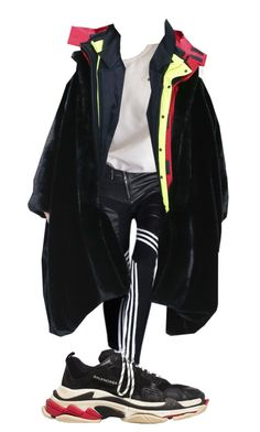 A fashion look from April 2018 featuring Balenciaga and sport shoes. Browse and shop related looks. Kpop Fashion Outfits, Girls Fashion Clothes, Stage Outfits, Geek Jewelry, Gothic Jewelry, Jewelry Necklaces, Electric Daisy, Electric Forest, Hippie Costume