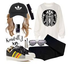 """""""Untitled #703"""" by justinbieber-zaikara ❤ liked on Polyvore featuring Topshop, J Brand, adidas, xO Design, Ilia and 8 Other Reasons"""