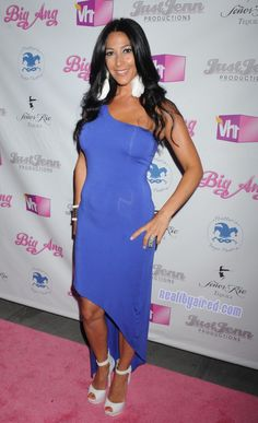 "Carla Facciolo on the red carpet at the ""Big Ang"" premiere party in NYC"