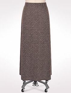 roz & ALI™ Plus Size Zigzag Textured Maxi Skirt
