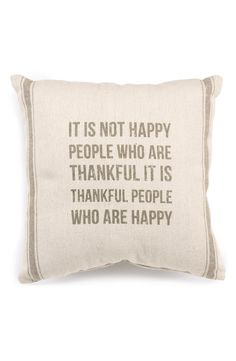 """It's not happy people who are thankful, it is thankful people who are happy."" Great quote."