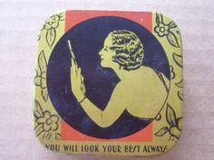 Art Deco Vintage Typewriter Tin Ribbon Box Lady Face Royal Kee Lox Wonder Brand | eBay
