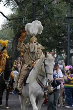 The Captain. Krewe of Rex, Mardi Gras in New Orleans.