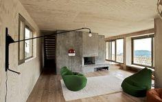 modern swiss concrete plywood house interior design modern