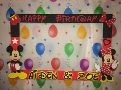 Mickey Mouse Picture Frame / Mickey Mouse Birthday Party ...