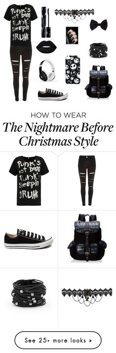 """Untitled #16"" by thequeenofdarkness on Polyvore featuring Converse, River Island, Wild Pair, Beats by Dr. Dre, Lime Crime, Chico's, Accessorize, R13, Shiseido and women's clothing"