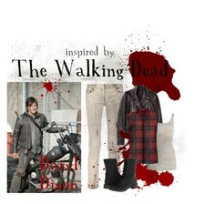 """The Walking Dead: Daryl Dixon"" by libsmusics ❤ liked on Polyvore featuring Balmain, R13, NIC+ZOE, Innocence and Gabriella Rocha"