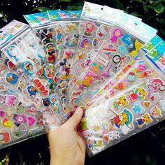 50 lembar/banyak Anak Kartun Anak Stiker Mainan Pola Indah Guru Reward Stiker Bengkak Untuk Anak-anak adesivo Anak