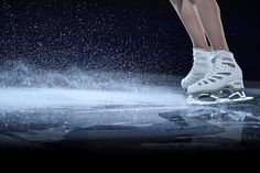 A view of Evgenia Medvedeva's skates of Russia during the ISU Grand Prix of Figure Skating Skate Canada International exhibition program at Place Bell on October 2018 in Laval, Quebec, Canada. Get premium, high resolution news photos at Getty Images Roller Skating, Ice Skating, Ballet, Figure Ice Skates, Skate Canada, Medvedeva, Ice Rink, Ice Dance, Figure Skating Dresses