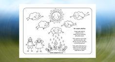 Oblaky - pracovný list a básnička pre deti Bullet Journal, Jar, Jars, Drinkware, Vase