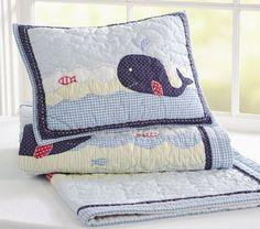 baby boy whale bedding