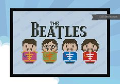 """This cross stitch pattern features The Beatles in the """"Sgt. Pepper's Lonely Hearts Club Band"""" version. \r\n\r\n This listings is for a virtual pattern that you can print off at home, or view via a computer or tablet. All patterns are downloadable in PDF"""
