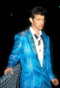 File Photo of Chris Isaak backstage after his concert at Irvine Meadows in Irvine, California where he was opening act for the Thomson Twins.