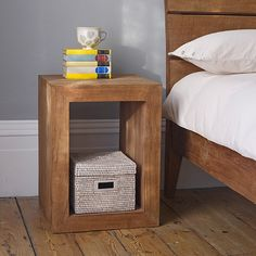 Our square Sumatra bedside table is handmade by artisans from rustic reclaimed teak in Indonesia. Simple Furniture, Recycled Furniture, Handmade Furniture, Rustic Furniture, Furniture Decor, Bedroom Furniture, Bedroom Decor, Bedroom Rustic, Rustic Desk