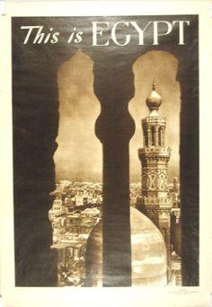 Vintage 1932 German Cruise to Pyramids Egypt Tourism Poster  A3 Print