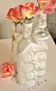 Декорируем бутылки