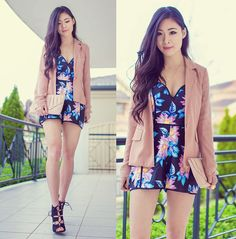 Isabel Z - Pop Cherry Fashion Playsuit, Shop Calico Lace Up Heels - Boyfriend blazers and bustiers