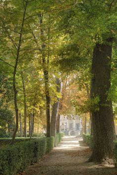Sitio Real de Aranjuez. Comunidad de Madrid. Spain Versallesco jardin al lado del río Tajo.