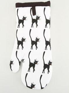 Sensei - Bílá chňapka-rukavice s kočkou Zelenoočkou