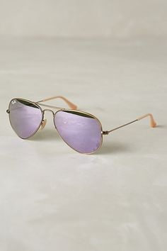 lilac RAY-BAN AVIATOR FLASH SUNGLASSES