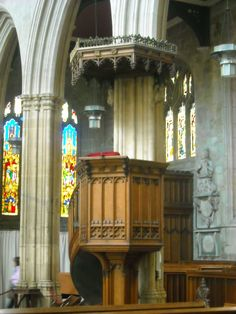 The pulpit in St. Mary's Church