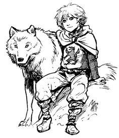 Winter is coming- Bran Stark & Summer by ~gianmac #direwolf #asoiaf #GoT