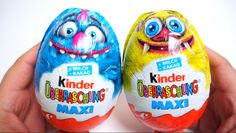 2 Maxi Monster Kinder Surprise EGGs