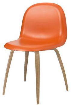 Gubi 5 Chair - / 4 legs - HiRek seat