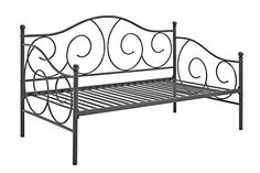 Whether you are looking for extra seating in the living room or a sleeper for overnight guests, the #DHP Victoria Metal Daybed is the perfect fit. With round fin...