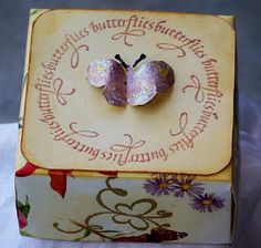 Robyn Josephs made boxes and a luminary for showing off the new Quietfire rubber stamps