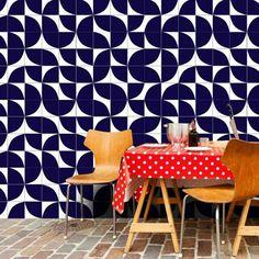 Nosso azulejo Quadrante Azul Royal ;-]  // Shop Online www.lurca.com.br/ #azulejos #azulejosdecorados #revestimento #arquitetura #reforma #decoração #interiores #decor #casa #sala #design #cerâmica #tiles #ceramictiles #architecture #interiors #homestyle #livingroom #wall #homedecor