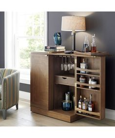 Maxine Bar Cabinet   Crate and Barrel