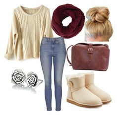 """""""Untitled #25"""" by embozant on Polyvore featuring BCBGMAXAZRIA, Topshop, UGG Australia and Chamilia"""