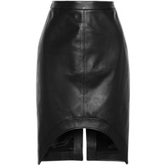 Givenchy Black leather pencil skirt (14.735 ARS) ❤ liked on Polyvore featuring skirts, bottoms, givenchy, jupe, black, knee length, leather skirt, knee high skirts, pencil skirt and knee length pencil skirt