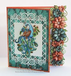 Designs by Marisa: Heartfelt Creations - Peacock Paisley Card