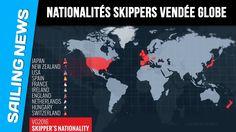 Nationalités des skippers du Vendée Globe 2016/2017