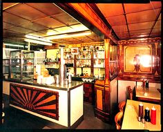 Classic cafe that was grade II listed in Has been ran by the Pellicci family since