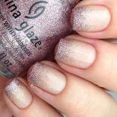 we ❤ this!  moncheribridals.com  #weddingnails #bridalnails #glitternails