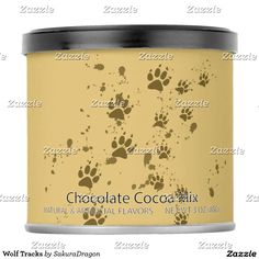 Wolf Tracks Hot Chocolate Drink Mix #wolf #wolves #animals #tracks #paws